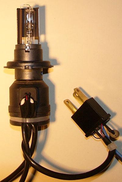 Лампа Xenon H4 чуть длинее оригинальной